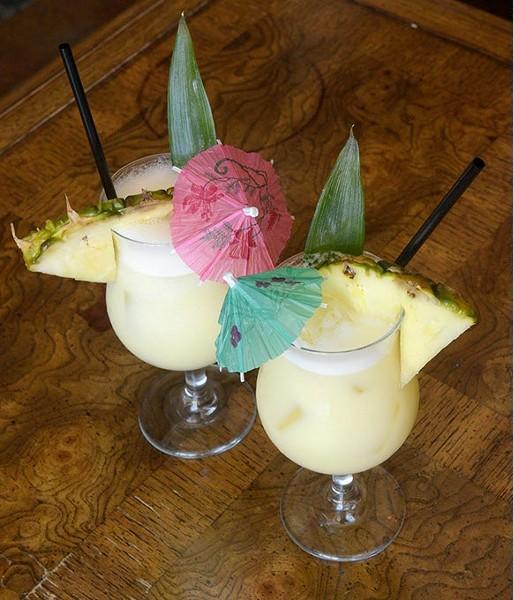 Two Piña Coladas at Rockford Cocktail Den (Garett Fisbeck)