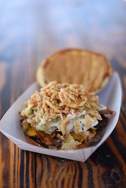 Jimmy Johnson's made-from-scratch burgers, formerly featured at Right-A-Way Burger, are now available at 51st Street Speakeasy. (Garett Fisbeck / file)