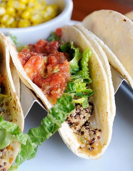 Quinoa Tacos at Picasso Cafe in Oklahoma City, Tuesday, Jan. 12, 2016. - GARETT FISBECK