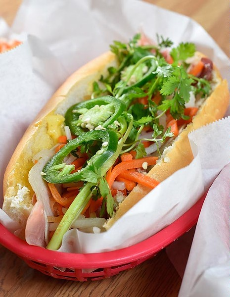 Banh mi at Lang's Bakery, Monday, May 9, 2016. - GARETT FISBECK