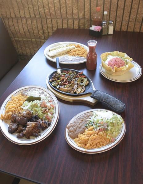 Food spread at - Los Perez in Oklahoma City, Wednesday, Dec. 28, 2016. - GARETT FISBECK