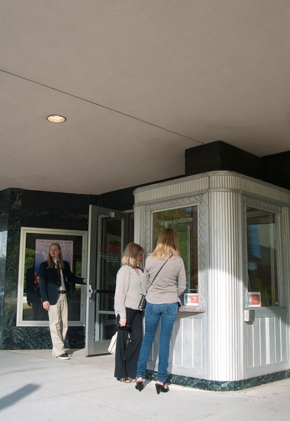 Women buy tickets for a film at the OKC Museum of Art last year.  mh