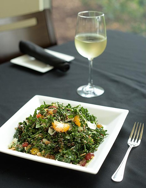 Kale and quinoa salad at Pepperoni Grill, Thursday, July 27, 2017. - GARETT FISBECK