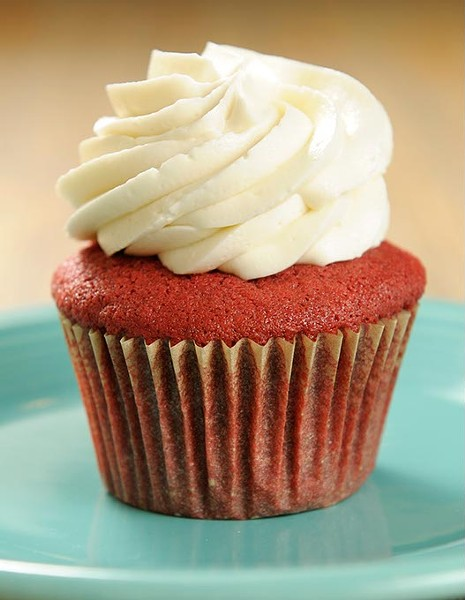 Red velvet cupcake at Crimson & Whipped Cream in Norman, Tuesday, July 21, 2015. - GARETT FISBECK
