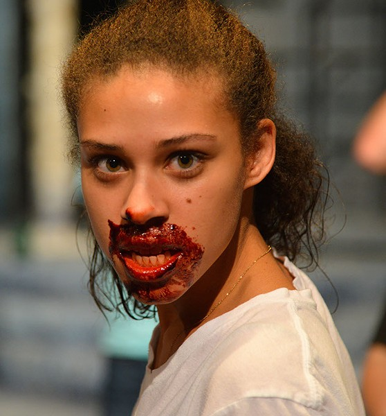 Kylie Anderson, a drama performance junior from Norman, plays Eli, the vampire in Let the Right One In. | Photo Sandra Bent / provided