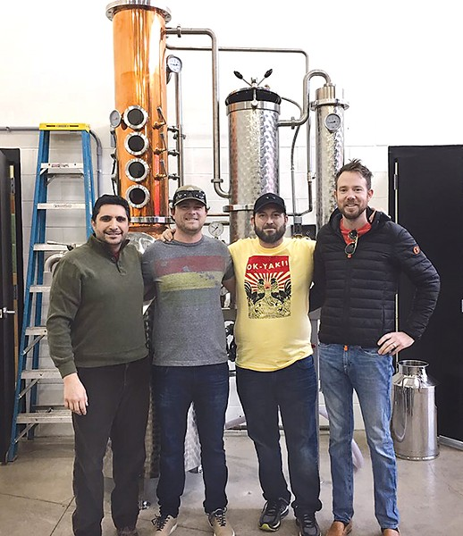 Steven Sands, Erik Tekell, Drew Tekell and Jonathon Stranger are the new ownership group for Praire Wolf Spirits. (Photo provided)