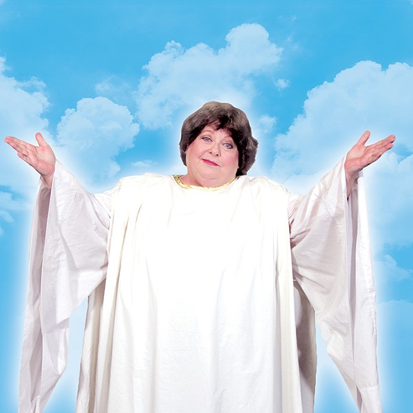 """Brenda Thomas plays an """"ambassador to the Almighty"""" in Pollard Theatre Company's production of An Act of God. - PROVIDED"""