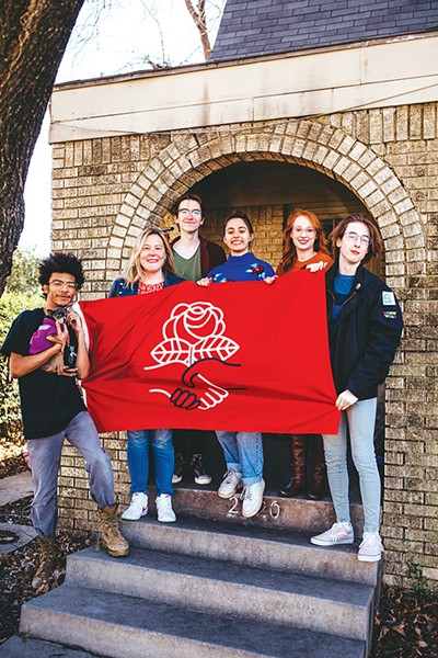 from left Bailey Walker, Hollye Carroll, Jagger Stingley, Fern Casanova, Natalie Langworthy and Laine Russell, members of Rose State Democratic Socialists plan to take part in Earth Strike's rally to bring attention to climate change Jan. 15. - ALEXA ACE