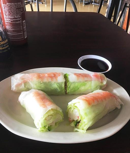 Alley Café serves spring rolls advertised as sushi. - JACOB THREADGILL
