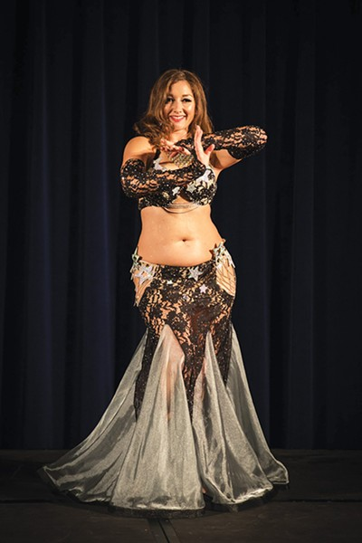 Ayperi Al Jawahir from Aalim Dance Academy in Oklahoma City belly dances in Valentine's Affair. - ADÈLE WOLF / PROVIDED