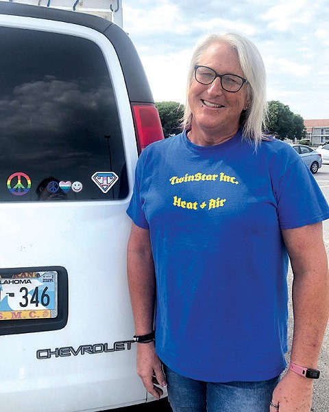Tessa White was a member of law enforcement in New Hampshire for 20 years and now lives in Oklahoma City and is an active member of the LGBTQ+ community. - ALEXA ACE