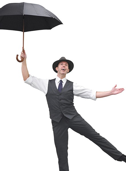 Jeremy Benton plays Don Lockwood in Lyric Theatre's production of Singin' in the Rain. - LYRIC THEATRE / PROVIDED