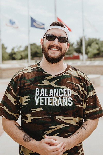 Dillon Reseck is the vice president of the Oklahoma chapter of Balanced Veterans. - ALEXA ACE