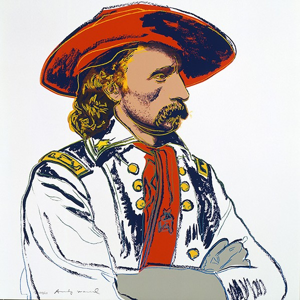 """""""General Custer"""" (1986) from Cowboys and Indians by Andy Warhol - THE ANDY WARHOL MUSEUM, PITTSBURGH; FOUNDING COLLECTION, CONTRIBUTION THE ANDY WARHOL FOUNDATION FOR THE VISUAL ARTS, INC. 1998.1.2493.3"""