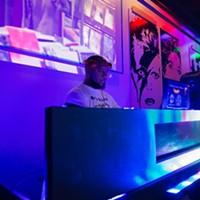 DJ plays music at the Flash Back Retro Pub 90's Night on Saturday, July 30, 2016 in Oklahoma City.