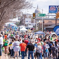 People flood the streets for Open Streets OKC in the Uptown 23rd District. The health and wellness event returns April 8.