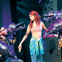 Jared Blount, Emily Paige Cleek and Emily Pace star in The Little Mermaid.