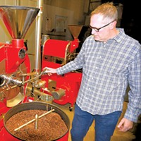 Todd Vinson roasts a fresh coffee blend, using a roaster from Oklahoma City's own U.S. Roaster Corp.