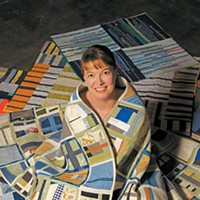 Sarah Atlee switched her full-time art focus from painting to quilting two years ago.