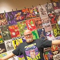 Jerry Bennett is the latest artist-in-residence at Skirvin Paseo Artist Creativity Exposition (SPACE) at The Skirvin Hilton Hotel Oklahoma City.