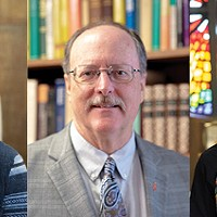 left to right Rev. Scott Spencer, Rev. James Nunn and Rev. Jen Logsdon-Kellog