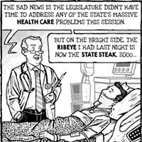 Cartoon: Overdue bills
