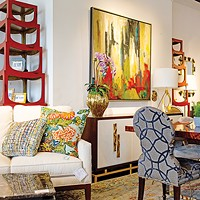 In addition to furniture, Henry's Home Furnishings carries accent pieces like pillows and lamps.