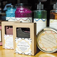 BodySpyce's body washes, fragrance sachets, soaps, bath bombs, candles and other items are made with simple, clean ingredients in small batches.