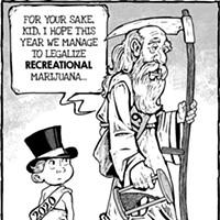 Cartoon: New year's weed
