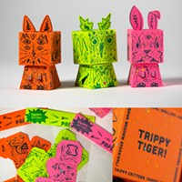 Trippy Critter paper toys
