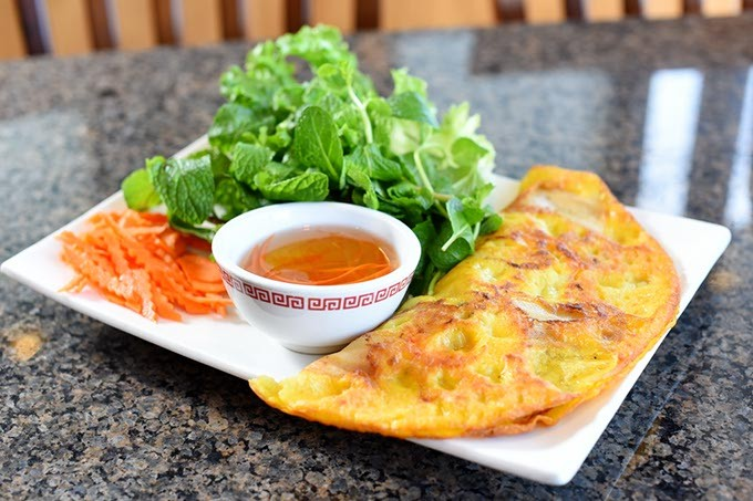 Banh xeo at Gia Gia Vietnamese Family Restaurant, Friday, March 4, 2016. - GARETT FISBECK