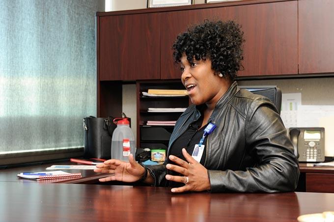 Aundria Goree, community health administrator, in Oklahoma City, Wednesday, Jan. 13, 2016. - GARETT FISBECK