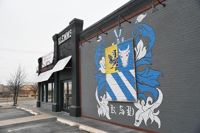 Klemm's Smoke Haus new brick and morter location at 2000 S. Broadway in Edmond, Oklahoma, 1-19-16. - MARK HANCOCK