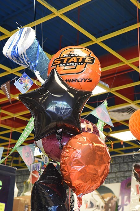 OSU Football party baloons at Party Galaxy, 1700 Belle Isle Blvd.  mh