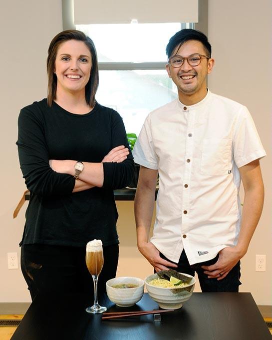 Rachel Cope and Jeff Chanchaleune of Gor? Ramen + Izakaya (Garett Fisbeck)