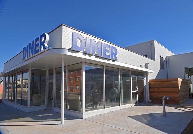 Sunnyside Diner, under construction on the southeast corner of N.W. 6th and Classen Boulivard, 2-9-16. - MARK HANCOCK