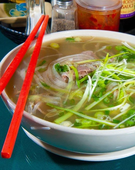 Rare Steak Noodle Soup at Pho Thai Nguyen.  mh