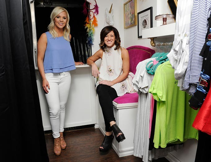Alysia Jackson and Christin Hill in their mobile boutique Jaxx + Hill in Oklahoma City, Monday, Feb. 8, 2016. - GARETT FISBECK