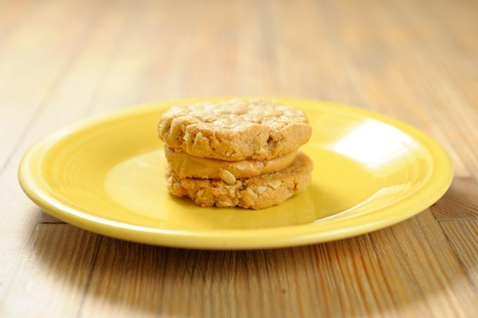 Peanut butter sandwich cookie at Crimson & Whipped Cream in Norman, Tuesday, July 21, 2015. - GARETT FISBECK