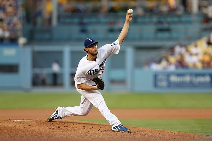 LOS ANGELES, CA - AUGUST 21:  Clayton Kershaw #22 of the Los Angeles Dodgers throws a pitch against the San Diego Padres at Dodger Stadium on August 21, 2014 in Los Angeles, California. - PHOTO BY STEPHEN DUNN/GETTY IMAGES