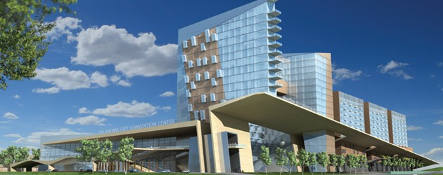 A rendering of what a new downtown convention center might look like. - CITY OF OKC