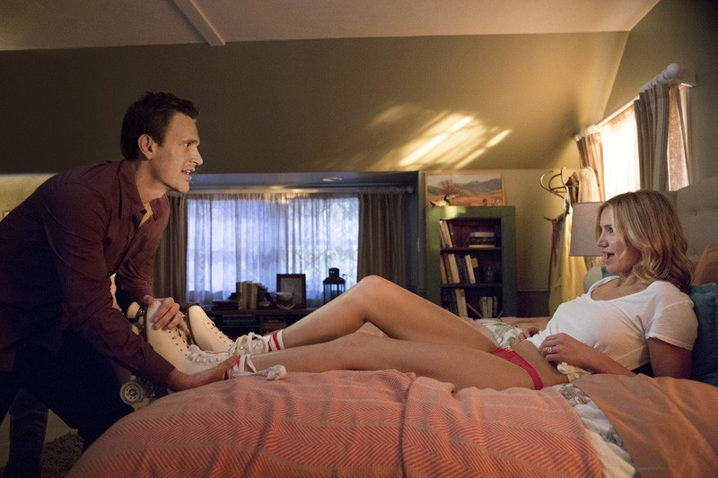 Jay (Jason Segel) and Annie (Cameron Diaz) in Columbia Pictures' SEX TAPE. - CLAIRE FOLGER