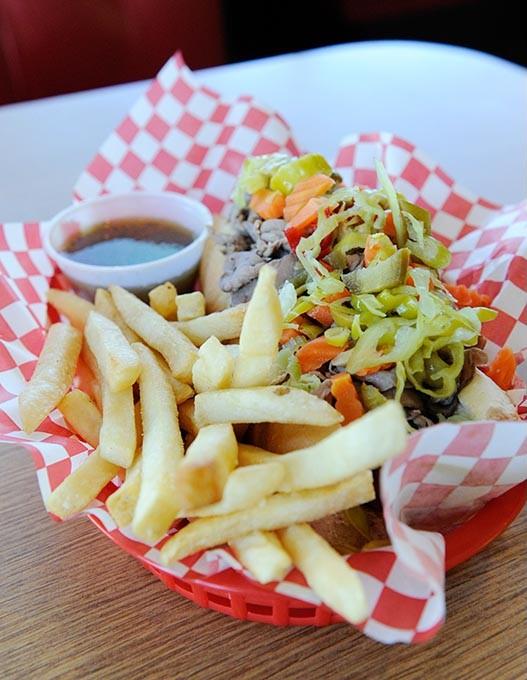 Italian beef and sausage sandwich at Cal's Chicago in Oklahoma City, Thursday, Nov. 12, 2015. - GARETT FISBECK