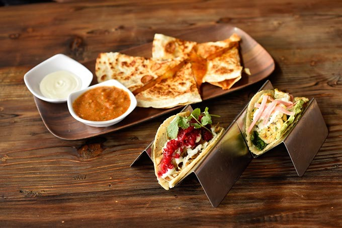 Quesadilla and tacos at Cultivar in Oklahoma City, Wednesday, March 30, 2016. - GARETT FISBECK