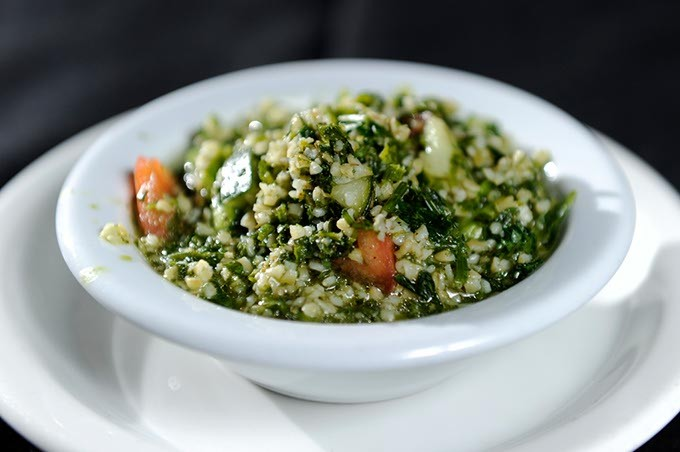 Tabouli salad at Jamil's Steakhouse in Oklahoma City, Tuesday, Jan. 6, 2015. - GARETT FISBECK