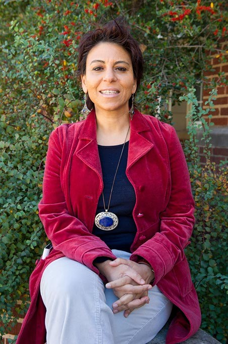 Janette Habashi, founder of Child's Cup Full, poses for a photo at the University of Oklahoma in Norman, Monday, Nov. 23, 2015. - GARETT FISBECK