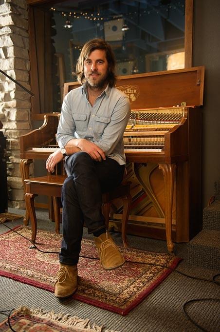 Graham Colton poses for a photo at Lunar Manor Recording Studio in Oklahoma City, Monday, Jan. 19, 201. - GARETT FISBECK