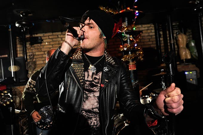 """Bran Reese sings """"Do What You Want"""" by Bad Religion during Punk Rock Karaoke at the Drunken Fry in Oklahoma City, Tuesday, Dec. 17, 2014. - GARETT FISBECK"""