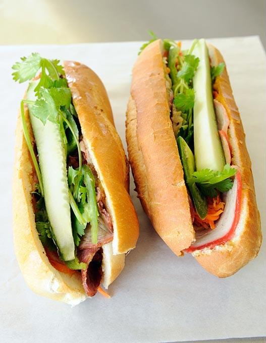 Pork and Ham Banh Mi at Quoc Bao Bakery in Oklahoma City, Thursday, May 28, 2015. - GARETT FISBECK