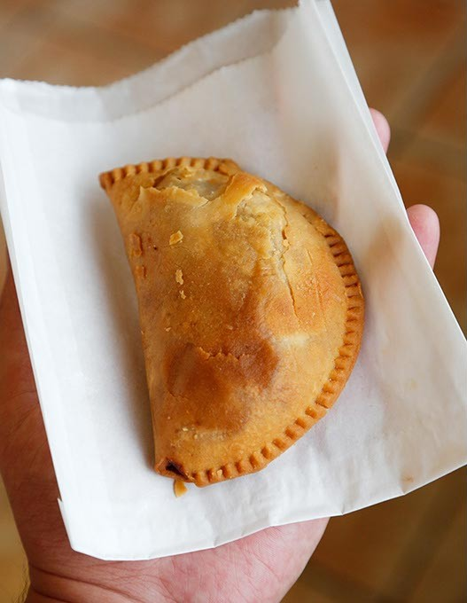 Meat pie at the Down Town Plaza in Oklahoma City, Wednesday, Aug. 19, 2015. - GARETT FISBECK